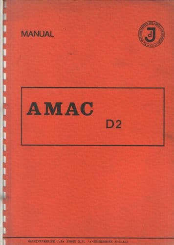 Amac Potato Harvester D2 Operators Manual