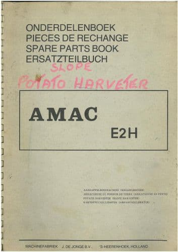 Amac Potato Harvester E2H Parts Manual