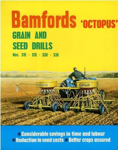 Bamfords Octopus Grain & Seed Drill - S15 S19 S30 S38 Brochure