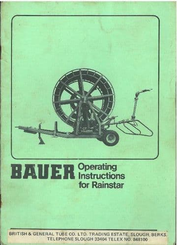 Bauer Rainstar Operators Manual