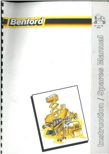 Benford Cement Mixer CT LS & RG Operators Manual with Parts List