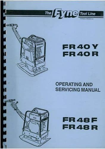 Benford Compactor Wacking Plate FR40Y FR40R FR48F FR48R Operating and Servicing Manual