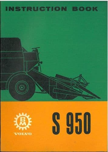 BM Volvo Combine S950 Operators Manual