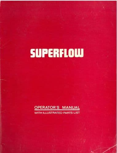 Bomford Cultivator Superflow Operators Manual with Parts List