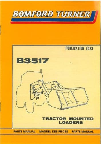 Bomford Turner Loader B3517 Parts Manual