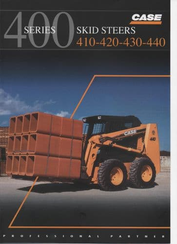 "Case 400 Series Skid Steers  ""410-420-430-440"" Brochure"