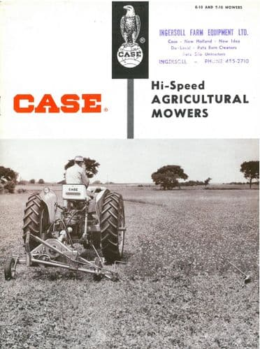 Case Agricultural Mowers E-10 & T-10 Brochure