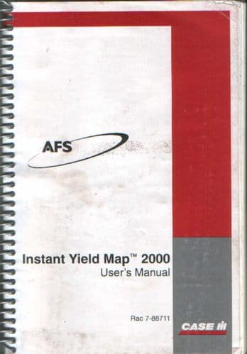 Case IH Instant Yield Map 2000 Operators Manual