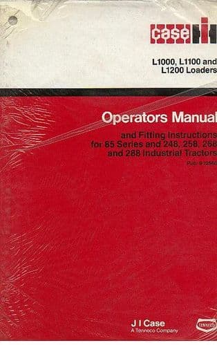 Case IH Loader L1000 L1100 L1200 Operators Manual for 385 485 585 685 885 & 248 258 268 288 Tractors