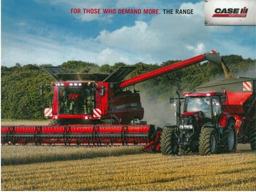 "Case IH ""The Range - For those who demand more""  Brochure - Tractors, Balers & Harvesters"