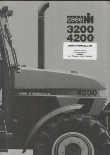 Case IH Tractor 3220 3230 4210 4220 4230 4240 Technical Data Brochure