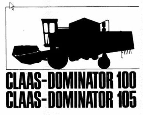 Claas Combine Dominator 100 & 105 Parts Manual
