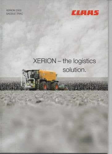 Claas Xerion 3300 Saddle Trac 'XERION-the logistics solution' Tractor Brochure