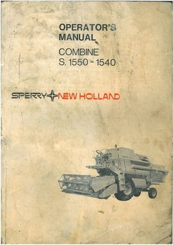 Clayson Combine 1540 & S1550 Operators Manual