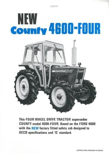 "County Tractor 4600 Four Brochure - ""New"""