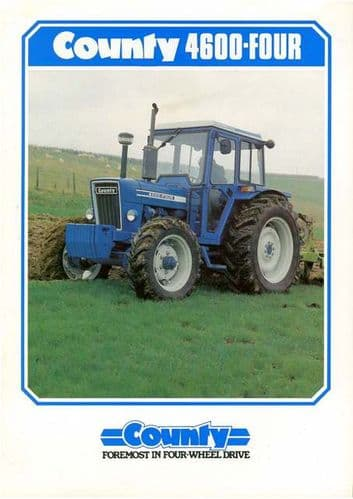 County Tractor 4600 Four Brochure - Ploughing