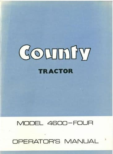County Tractor 4600 Four Operators Manual