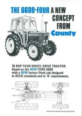 County Tractor 6600 Four Brochure - New Concept