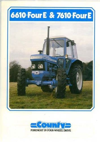 County Tractor 6610 Four E & 7610 Four E Brochure