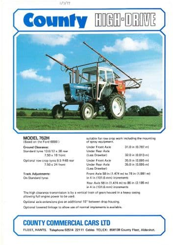 County Tractor High-Drive 762H Brochure - Spraying