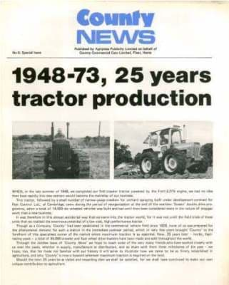 County Tractor News - Issue No 6 - Special Issue