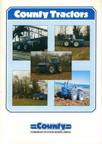 County Tractor Range - 764 774 964 974 1164 1184 1464 1474 1884 1184FC & High Drive Brochure