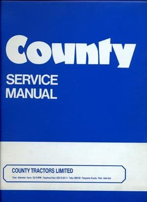 County Tractor Super 6 - 954 1004 1124 764 774 964 974 1164TW 1184TW Workshop Service Manual