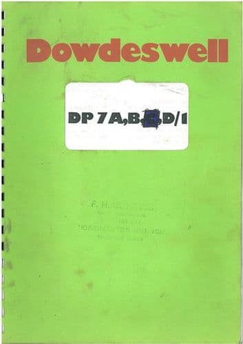 Dowdeswell DP7 A, B, D/1 Plough Operators Manual with Parts List.