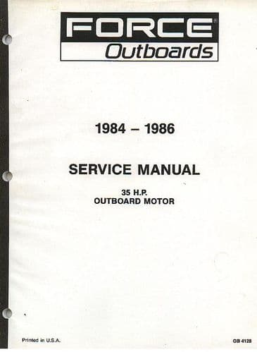 Force Outboards 1984 - 1986 35HP Outboard Motor Service Manual