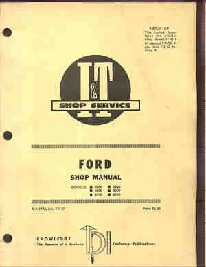 Ford 8000, 9000, 8600, 9600, 8700, 9700, Tractor Service Workshop Manual
