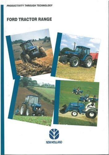 Ford New Holland Tractor Range Brochure - GT75 CM274 1920 4630 5030 6640 7840 8240 8670 8770 8870