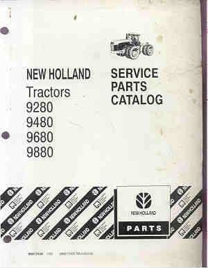 Ford New Holland Versatile 9280, 9480, 9680, 9880, Tractor Parts Manual