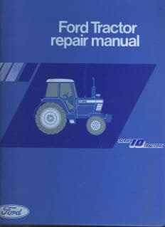 Ford Tractor 10 Series - 2610 3610 4110 4610 5610 6610 6710 7610 7710 Service Workshop Manual
