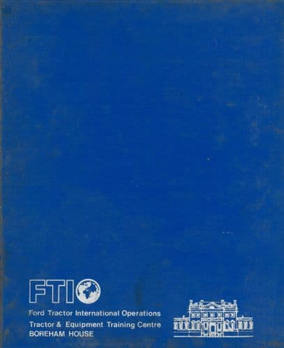 Ford  Tractor 10 & TW Series Service Training Manual - Wiring Diagrams 1983