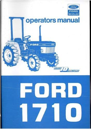 Ford Tractor 1710 Operators Manual