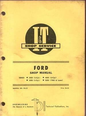 Ford Tractor 2000 3000 4000 5000 Service Workshop Manual