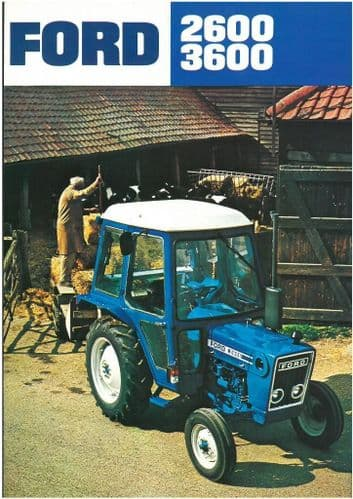 Ford Tractor 2600 and 3600 Brochure - Single Sheet