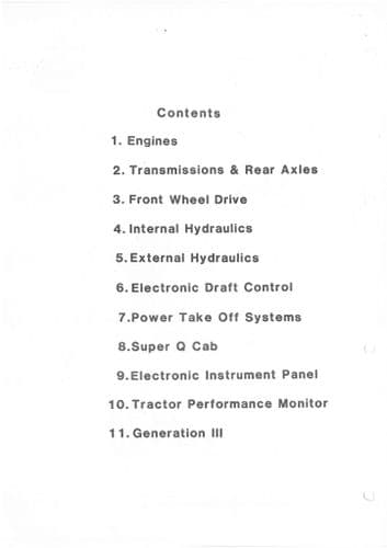 Ford Tractor 2910 3910 4110 4610 5610 6410 6610 7610 7710 7810 8210 TW15 TW25 TW35 Product Manual