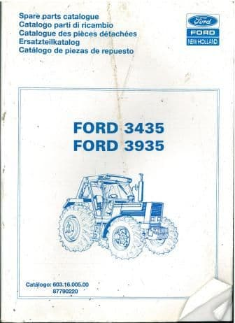 Ford Tractor 3435 3935 Parts Manual