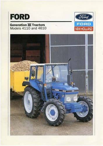 Ford Tractor 4110 and 4610 Brochure - Generation III