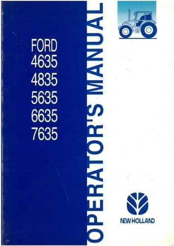 Ford Tractor 4635 4835 5635 6635 7635 Operators Manual