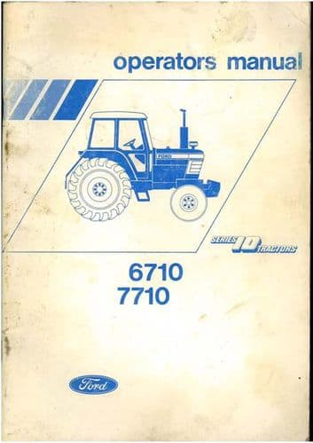 Ford Tractor 6710 7710 Operators Manual