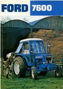 Ford Tractor 7600 Brochure - 8 Page