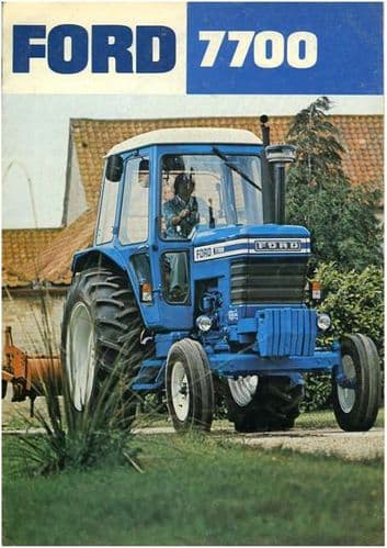 Ford Tractor 7700 Brochure - 8 Page