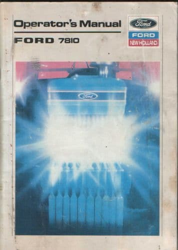 Ford Tractor 7810 Operators Manual