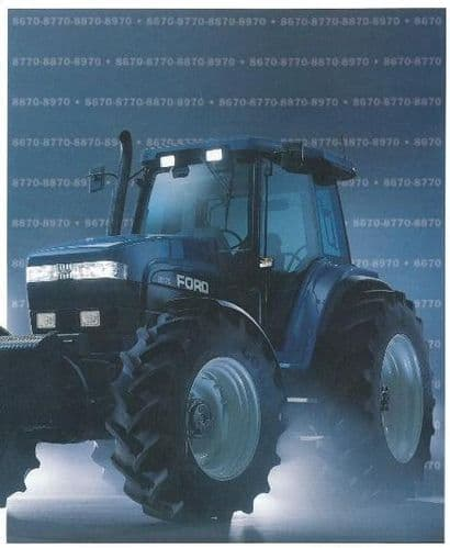 Ford Tractor 8670 8770 8870 8970 Workshop Service Manual