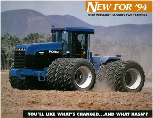 Ford Versatile Tractor 9280 9480 9680 9880 New For '94 Brochure