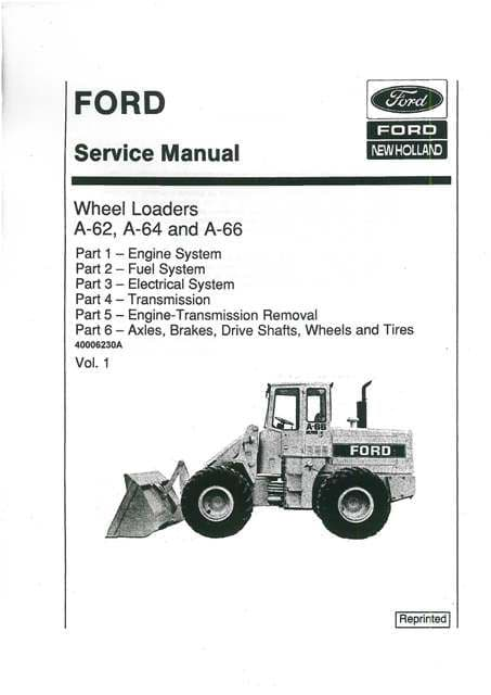 Ford Wheel Loader A62 A64 A66 Workshop Service Repair Manual