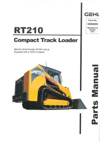 Gehl Compact Track Loader Model RT210  Parts Manual RT 210