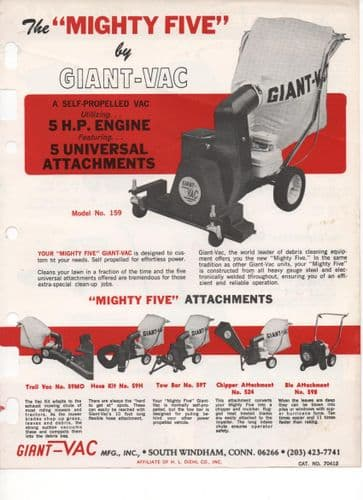 Giant Vac - Mighty Five - Self-Propelled Vac Brochure